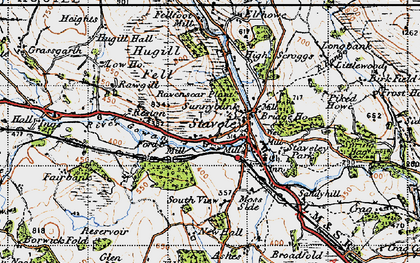 Old map of Staveley in 1947