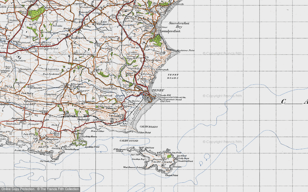 Old Map of Map of Tenby in 1946