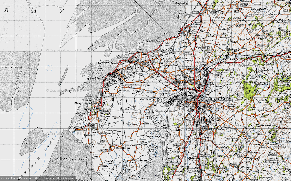 Old Map of Map of White Lund in 1947
