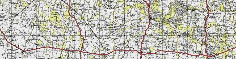 Old map of Woldringfold in 1940