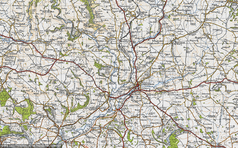 Old Map of Mapleton, 1946 in 1946
