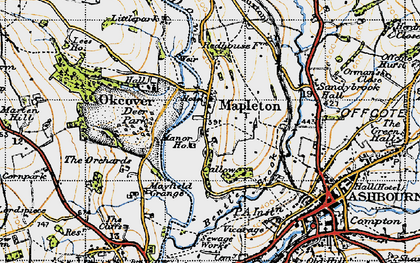Old map of Mapleton in 1946