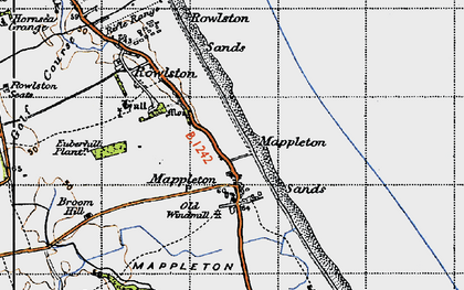 Old map of Mappleton in 1947
