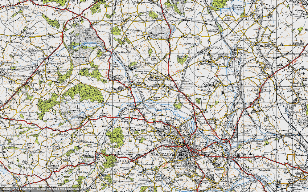 Old Map of Mapplewell, 1947 in 1947