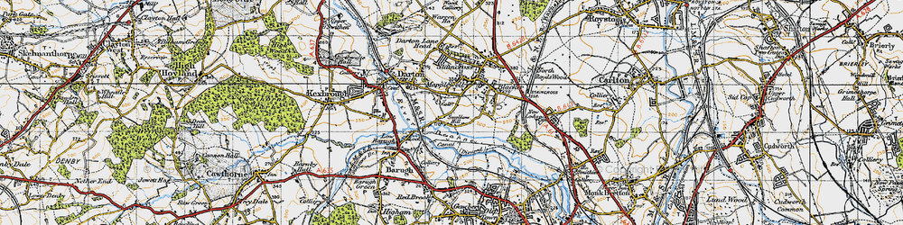 Old map of Mapplewell in 1947