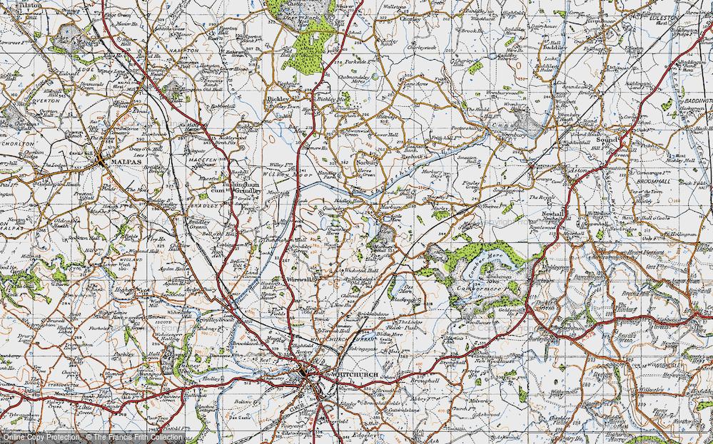 Old Map of Marbury, 1947 in 1947