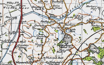 Old map of Marbury in 1947