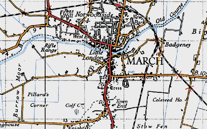 Old map of March in 1946