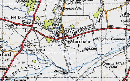 Old map of Abingdon Common in 1947