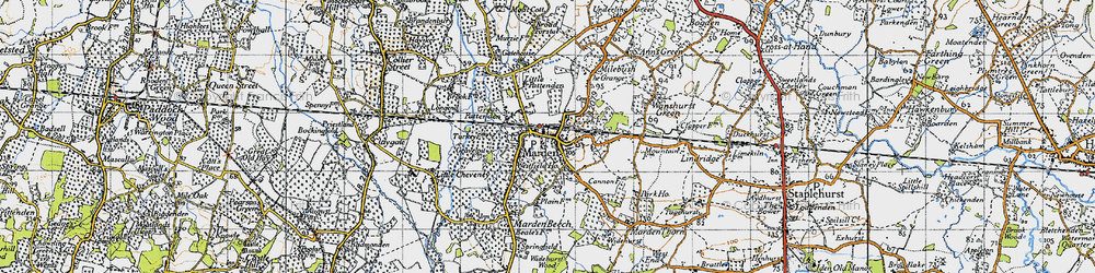 Old map of Marden in 1940