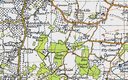 Old map of Widehurst in 1940