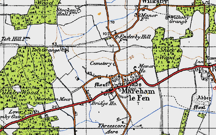 Old map of Mareham le Fen in 1946