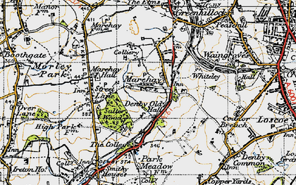 Old map of Marehay in 1946