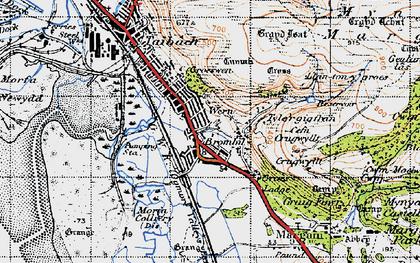 Old map of Margam in 1947