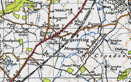 Old map of White's Place in 1946