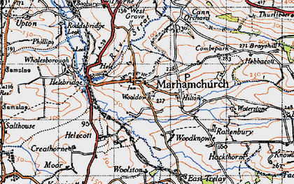 Old map of Marhamchurch in 1946