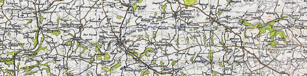 Old map of Tidlake in 1946