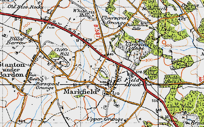 Old map of White Hill in 1946