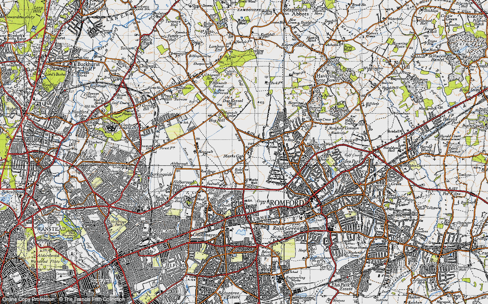 Old Map of Marks Gate, 1946 in 1946