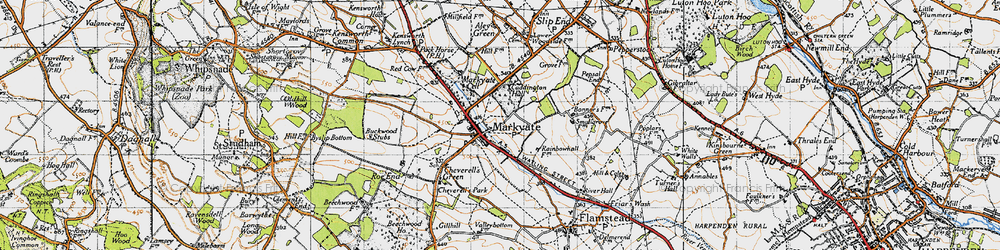 Old map of Markyate in 1946