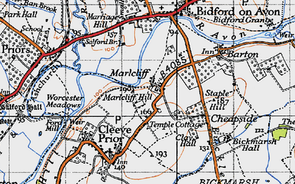 Old map of Marlcliff in 1946