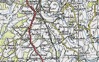 Old map of Winkenhurst in 1940