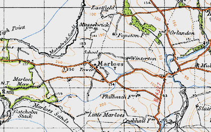 Old map of Albion Sands in 1946