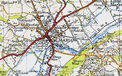 Old map of Marlow in 1947