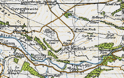 Old map of Marrick in 1947