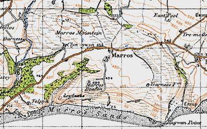 Old map of Marros in 1946