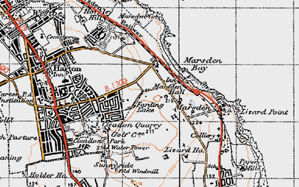 Old map of Marsden in 1947