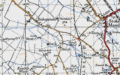 Old map of Marsh in 1946