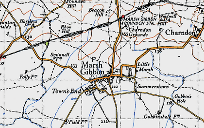 Old map of Westbury Court in 1946
