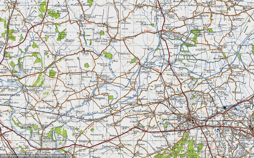 Old Map of Marsh Green, 1947 in 1947