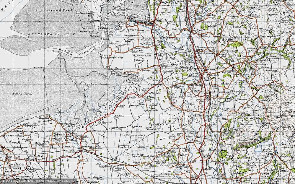 Old Map of Historic Map covering Lathwaite in 1947
