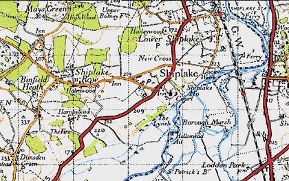 Old map of Marsh Lock in 1947