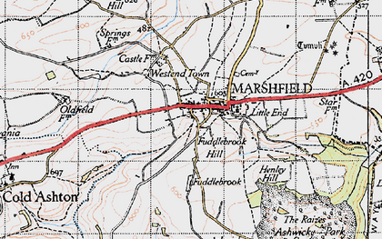 Old map of Marshfield in 1946