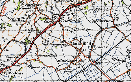 Old map of Marshfield in 1947