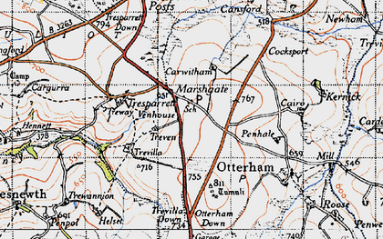 Old map of Marshgate in 1946