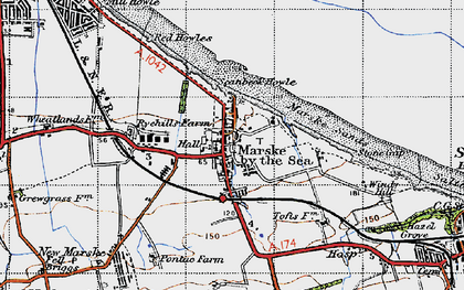 Old map of Marske-By-The-Sea in 1947