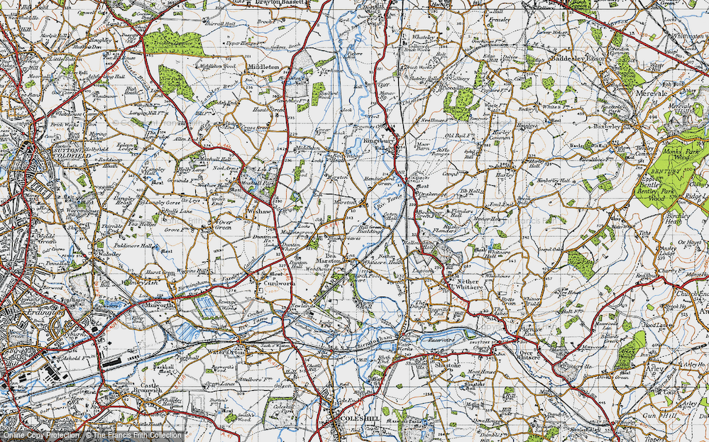 Old Map of Marston, 1946 in 1946