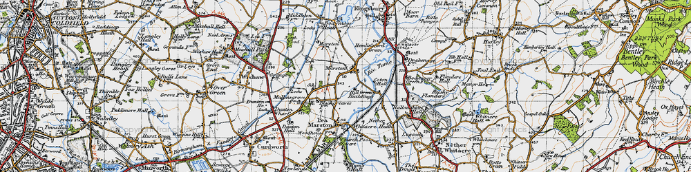 Old map of Marston in 1946