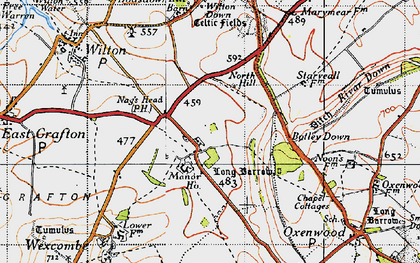 Old map of Wilton Down in 1940