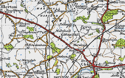 Old map of Baguley Fold in 1947