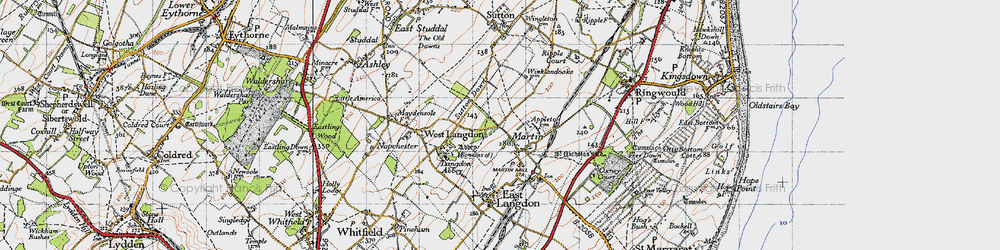 Old map of Appleton Manor in 1947