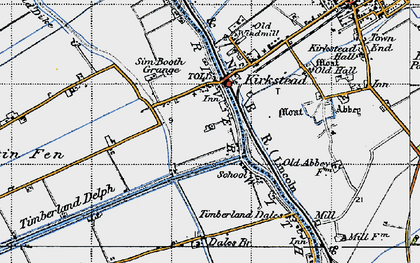 Old map of Timberland Dales in 1946