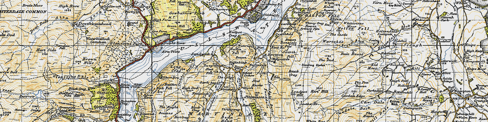 Old map of Winter Crag in 1947