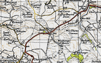 Old map of Woolhanger in 1946