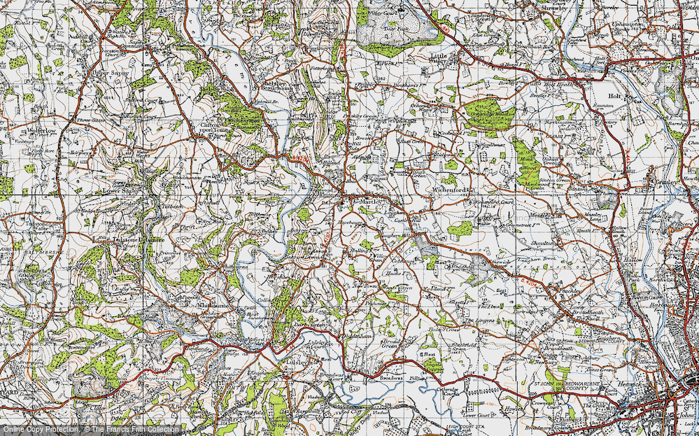 Old Map of Martley, 1947 in 1947