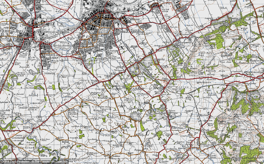 Old Map of Marton, 1947 in 1947